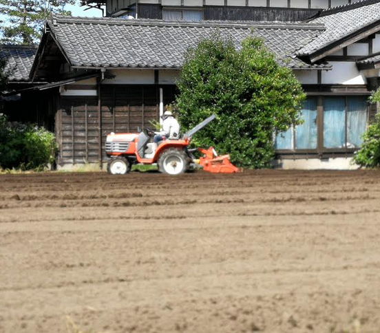 This is the Tractor known here in Japan we use to prepare the soil for planting.