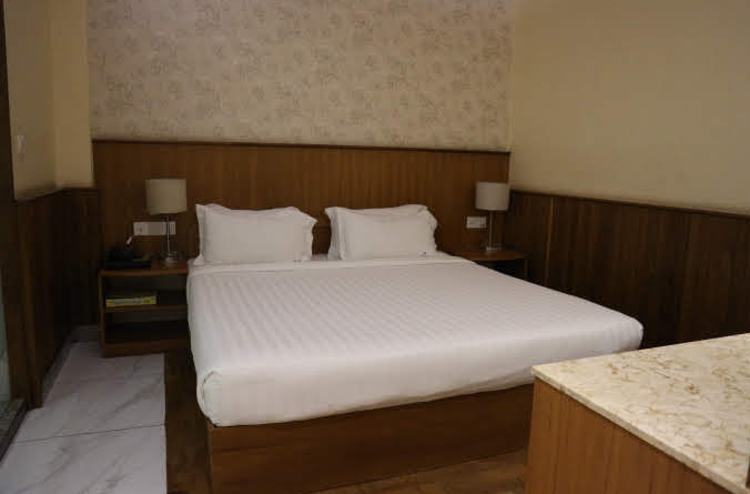 The Unity Hotel Bedroom.