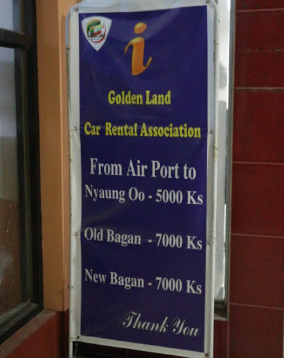 The fare for car rental at airport.