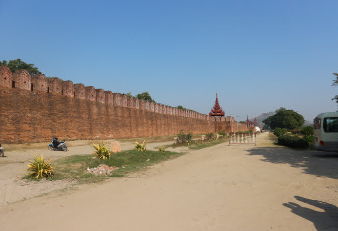 The border of Mandalay Hill.