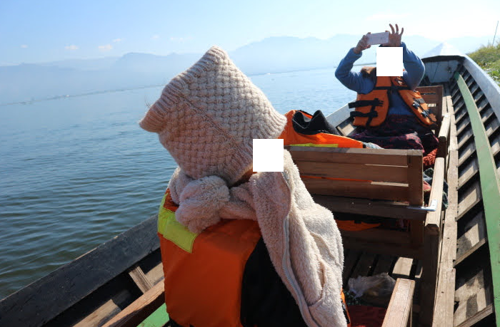 RIding the boat roaming at Inle Lake Myanmar.