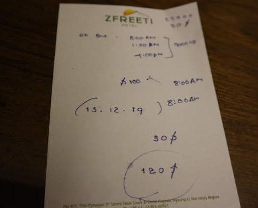 Our Zfreeti scheduled for the tuk-tuk tour.