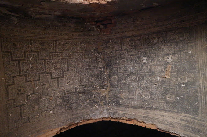 The ceiling if the temple.