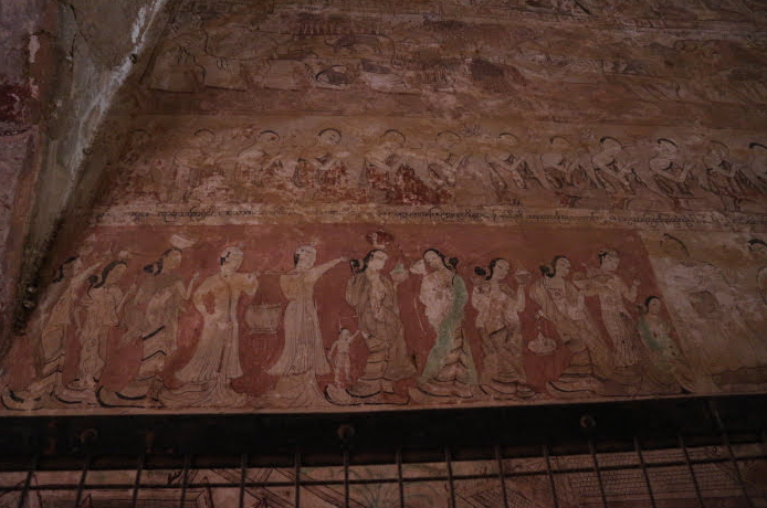 Another Artwork from the wall of Sulamani Temple.
