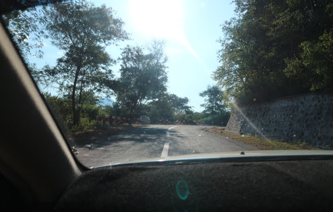 Road to Mount Popa.