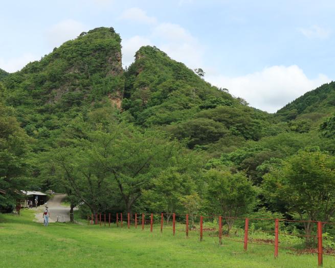 The Dohyu-No-Wareto huge mining pit of the Sado