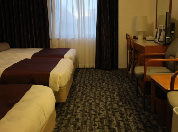 Our grand hotel room.