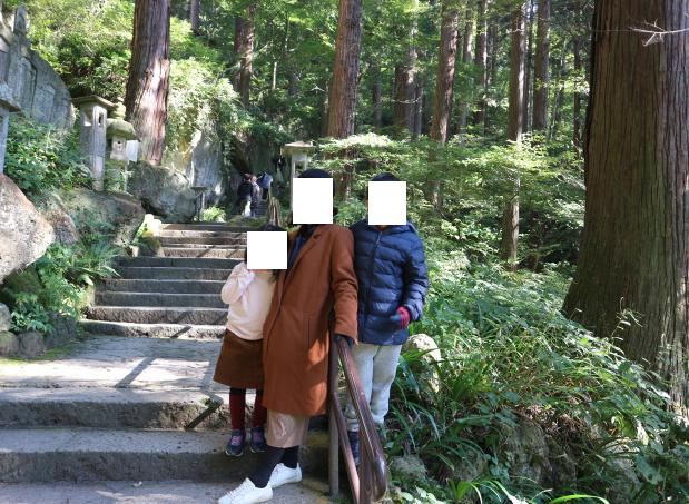 Our climb to Yamadera temple.