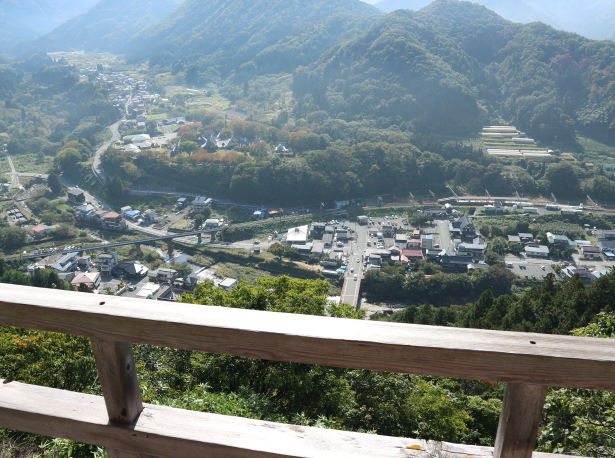 The view from the summit of Yamadera temple.