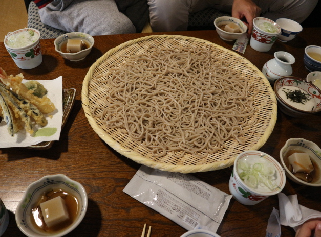 The genuine soba  we ate from our trip at Yamadera.