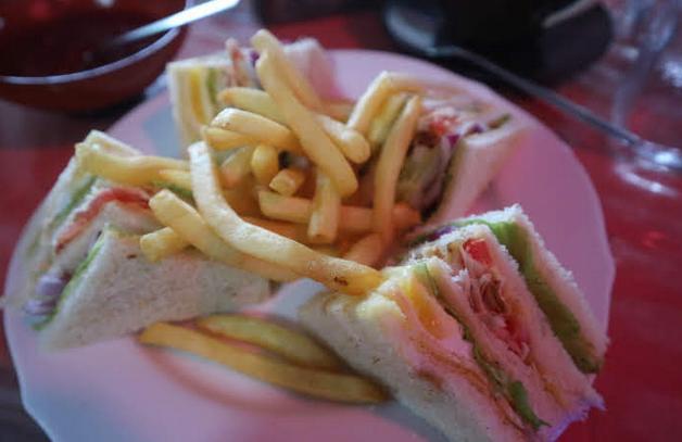 Sandwhih from restaurant at Dambulla.
