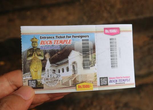 Rocke temple ticket.