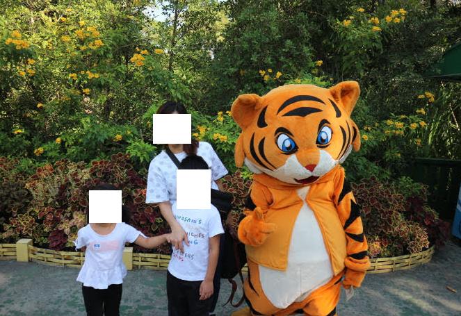 The mascot of Safari world Thailand.
