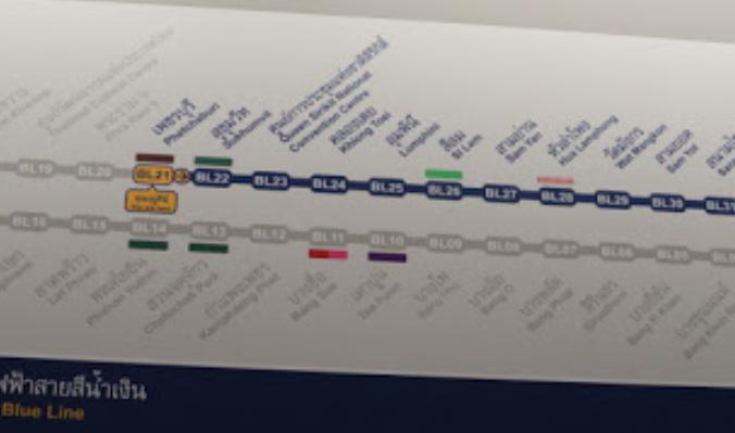 Subway Map Thailand.