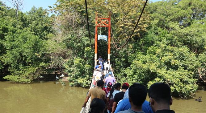 The bridge of Safari world Thailand.