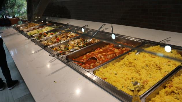 The buffet foods of Safari World.