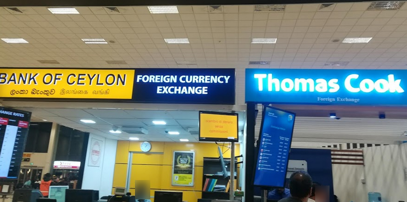 THe Currensy Excahnge at Colombo Airport.
