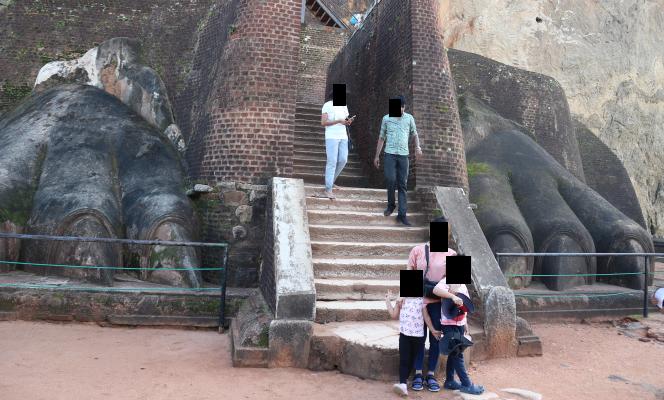 The lion claws, Sigiriya rock.