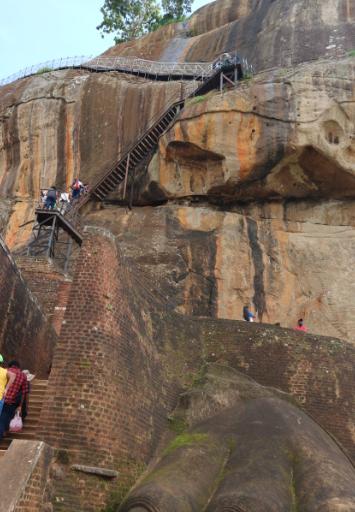 The hardest climbed at Sigiriya rock.
