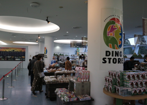 The dino store.