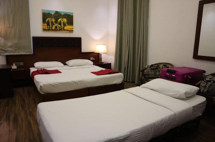 Our room at Heaven hotel Sri LAnka.