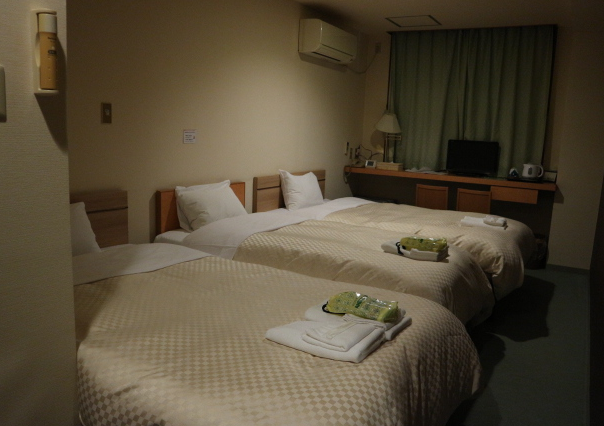 THe rooms where we stayed for our first night at Fukai.