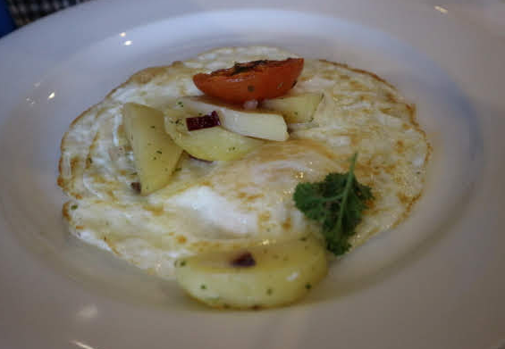 OUr breakfast at ELiya hotel.