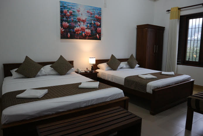 The room we booked at Kandy road Sri Lanka in preparation to visit the tooth temple.