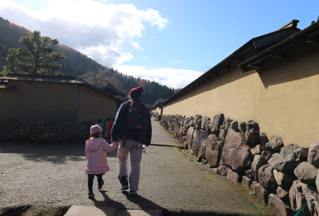 The start of the tour at Ichijo Dani Ruins.