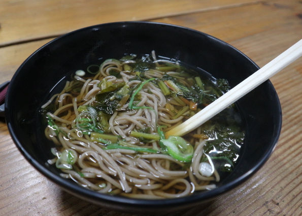 Cold Soba we ate at the restaurant inside Ichijo Dani Ruins.