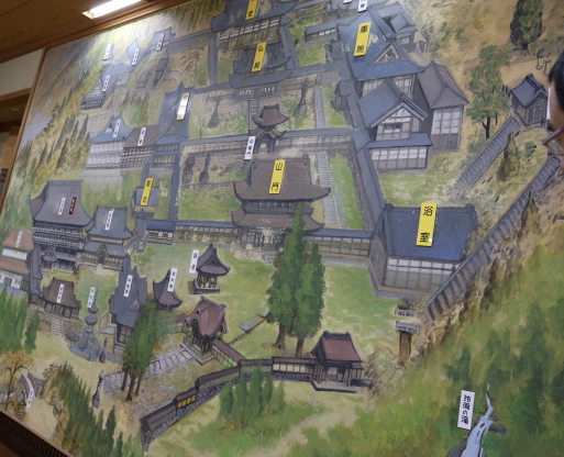The large picture of the Eihei-Ji Temple.