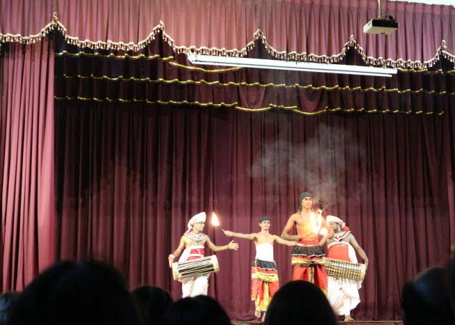 Dance act at Kandy Sri Lanka cultural center.