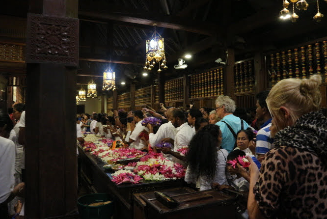 The followers of tooth relic templa, Buddha.