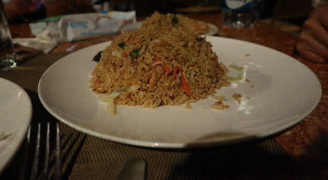 Our simple dinner at Kandy Sri Lanka.