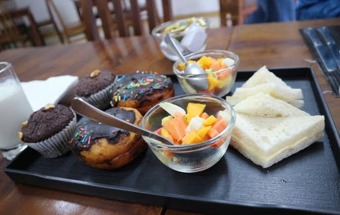 Our breakfast at Sri Lanka.