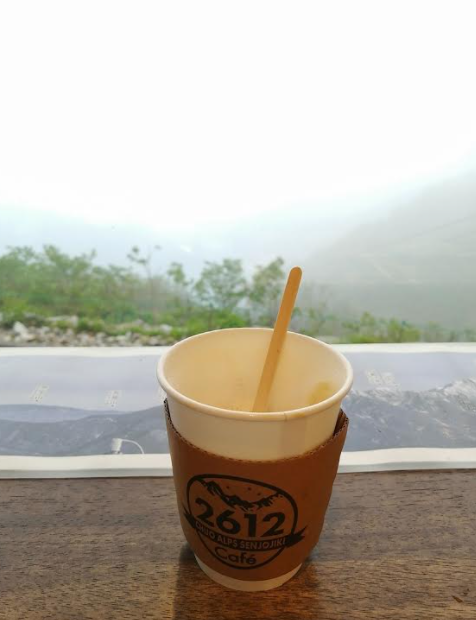 Coffee break at cable car station
