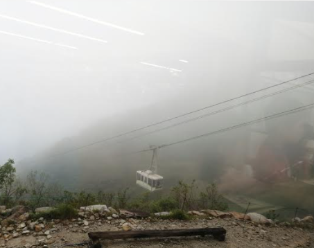 The view of the cable car.