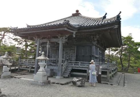 A temple just beside Matsushima bay.