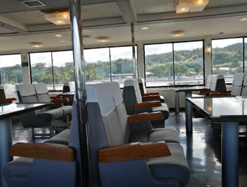 The second deck of the ferry.