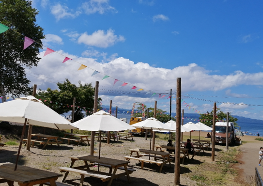 The beach chairs from Lake Shida, Fukushima.