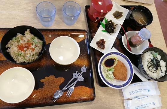Lunch at the restaurant of Jodogahama beach.